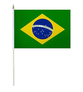 Brazil Hand Waver Flag