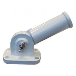Adjustable Bracket for Pole White Aluminium