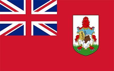 Bermuda Flag Car Sticker 13 x 9cm