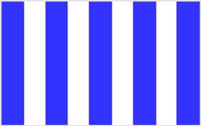 Royal Blue And White Stripe 150 x 90cm