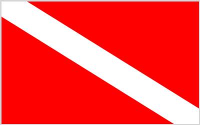Diver Flag 150 x 90cm