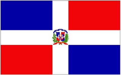 Dominican Republic Flag Car Sticker 13 x 9cm
