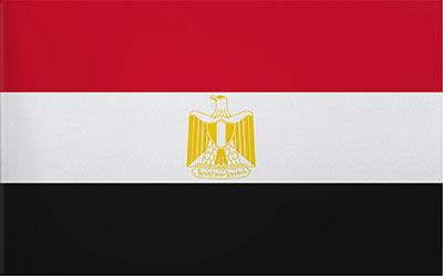 Egypt Flag Car Sticker 13 x 9cm