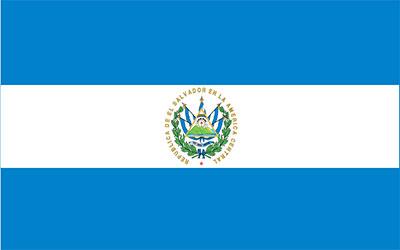 El Salvador Flag Car Sticker 13 x 9cm