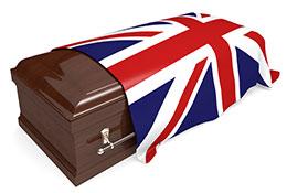 Funeral Flag On Casket