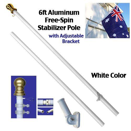 Flag Pole Kit White