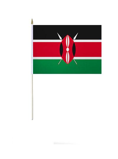 Kenya Hand Waver Flag