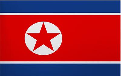 Korea North National Flag