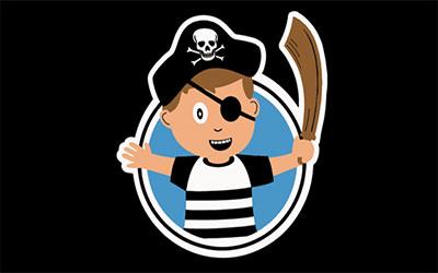 Boy Pirate Flag 150 x 90cm