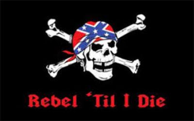 Rebel Til I Die Pirate Flag 150 x 90cm