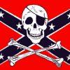 Rebel Skull Cross Bones Pirate Flag