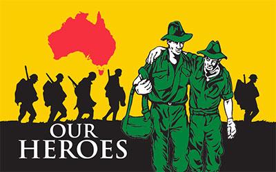 An Australian Heroe Soldier Flag 150 x 90cm