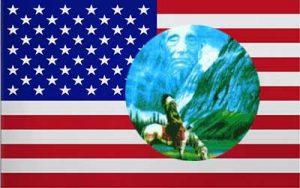 USA Riding Indian Flag 150 x 90cm